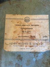 Interesting Wwii Admiralty Recorder Echo Sounder Maintenance Book - 1941