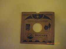 vintage record cover 78 rpm original pre 19,30s awesome edison art deco rare