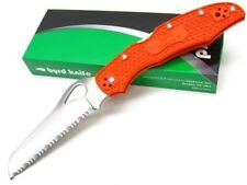 Couteau Spyderco Byrd Cara Cara 2 Orange Rescue Acier 8Cr13MoV Serrated BY17SOR2