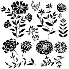 Sticker Déco Planche 30x30 cm Planche Nature Florale (Motifs de 3 à 17 cm)