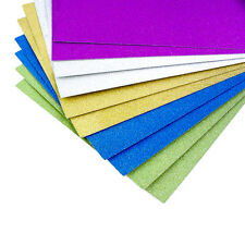 A4 Glitter Card 5 Colours Sheets Cardmaking Arts and Crafts - 10 Pack