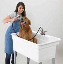 """LARGE DOG BATH UTILITY TUB 40""""x 24"""" ~FAUCET INCLUDED~ Floor Standing 36 Gal.Sink"""