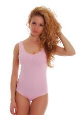 Women Sleeveless Bodysuit Straps Leotard Stretch Top Blouse Cotton Body Suit