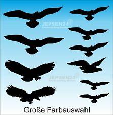 10 Vogel Aufkleber Vögel - Schutz für Fensterscheiben Fenster Wintergarten Büro