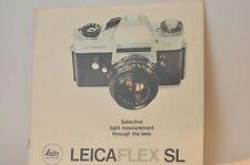 Leica LeicaFlex Sl Camera Dealers brochure booklet Germany