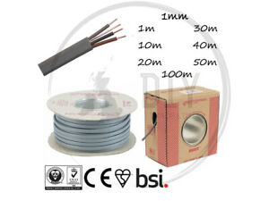 1mm 3 Core & Earth Grey Cable Lighting 2-Way Switches BASEC Approved 6243Y