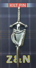 New Scottish Highland Celtic Irish Harp Sporran Kilt Pin / Irish Harp Kilt Pin