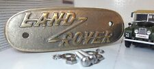 Cast Brass Grill/Grille Tub Badge Replica Land Rover Early 1948-52 Series 1