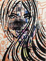 Hasworld original Abstract Expressionist Signed,Street Doodle Kunst Pop Graffiti