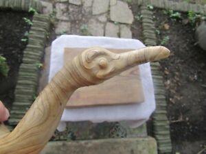 "Vintage C. M. Copeland Folk Art Carved Wood Bird Sculpture MCM Mod Retro 13""T NR"