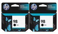 GENUINE NEW HP 98 (C9364WN) Black Ink Cartridge 2-Pack