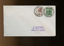 """Australia Cover 1952 """"West"""", NSW to Oakland, California with large blue"""