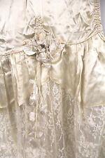 1920s Flapper Wedding GownAntique Vtg Dress Silk & Lace Panniers Cutter Display