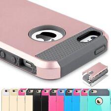 Híbrido Resistente GOMA ANTICHOQUE Tapa Dura Funda para iPhone 6 6s 7 Plus SE