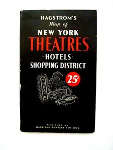 """Fantastic Vintage """"Hagstrom's Map of New York"""", Theatres, Hotels & Shopping   *"""