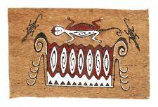 Maro Tapa painted bark cloth Sentani People Tribal Art Papua Irian Jaya 65x42cm