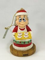 Collectible MARATHON 2003 Christmas Ornament w/Tag Mrs Claus Cookies *NEW*