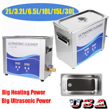 Ultrasonic Cleaner Cleaning Equipment Liter Industry Heated W/ Timer Heater