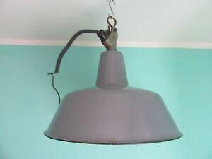 Industrie Loft Lampe Fabrik Lampen   E 27 Emaille