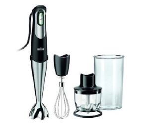 Braun MultiQuick 7 MQ725 Handheld Blender - Premium Black/Stainless Steel New!