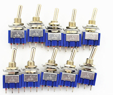 5 Pcs ON-OFF-ON 3 Pin 3 Position Mini Latching Toggle Switch AC 125V/6A 250V/3A