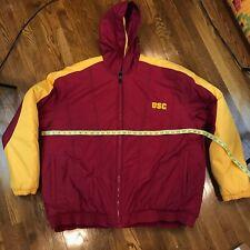 USC Nike Team Waterproof Weatherproof Heavy Duty Puffy Jacket Sz XXL