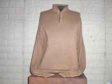 TALBOTS tan soft cotton & modal button neck Sweater men's XL