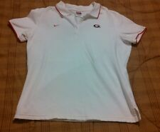 Women's Nike Georgia Bulldogs white Vented Collar Polo Shirt-SIze M