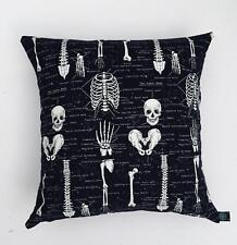 "Skeleton Glow Dark Anatomy Cushion Cover Decorative Trendy Case fits 18"" x 18"""