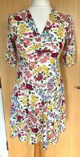 Cath Kidston Damas Vestido 14 Té década de 1940 Land Girl patrón floral Raro Verano