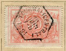 BELGIUM;  1882 early RAILWAY Parcel Post issue fine used 50c. value