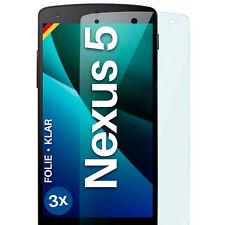 3x Screen Protector LG Google Nexus 5 Foil Clear Matt 3D Touch 4H - No Glass
