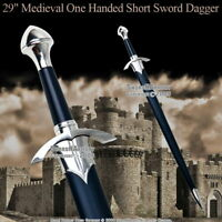 """29"""" Medieval One Handed Medieval Crusader Arming Sword with Sheath LARP Costume"""