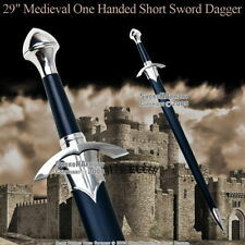 "29"" Medieval One Handed Medieval Crusader Arming Sword with Sheath LARP Costume"