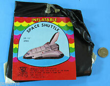 "INFLATABLE Space Shuttle COLUMBIA '80s vtg NASA - 18"" Long!"