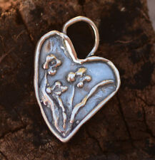 Heart with Flowers, You Go Girl! Heart Sterling Silver Charm