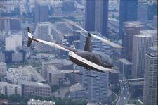 Photos hélicoptère Robinson R44 Astro 38 Diapositive Slide 35mm Paris la Défense