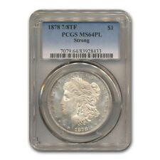 1878 Morgan Dollar 7/8 TF Strong MS-64 PCGS (PL)
