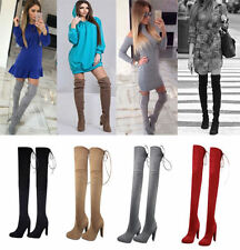 Over Knee Boots Lace Up Casual Shoes for Women
