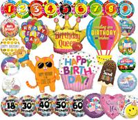 Geburtstag FOLIENBALLONS MEGA GROSSE AUSWAHL Helium XL Folienballon Luftballon