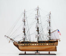 "USS Constitution Old Ironsides Wooden Tall Ship Model 38"" Handbuilt"