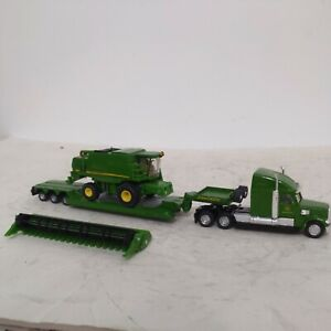Siku John Deere Freightliner & Low Boy W/ Combine Harvester Set