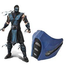 The Movie Mortal Kombat Scorpion Halloween Cosplay Blue Mask Pvc Material