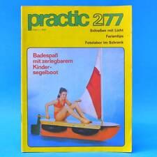 DDR practic 2/1977 Kindersegelboot Knobeleien Katamaran Minimixer Simson S 50 H