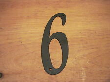6-Black Wrought Iron Wall Art Metal Home Decor Primitive number