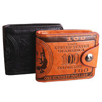 Mens Genuine Leather Bifold Dollar Wallet Credit/ID Card Holder Slim Coin Purse