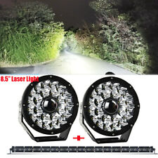 "2pcs Round 8.5inch Laser Driving Lights + 32"" Slim Line 6D Offroad LED Light Bar"