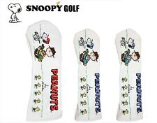 Snoopy Woodstock golf club head cover driver fairway wood x2 embroidery Peanuts