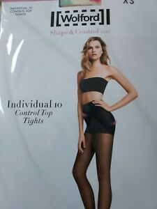 Wolford, Shape And Control Light Tights, Individual 10, xsmall size, tan/gobi