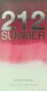 212 SUMMER 60ML EDP WOMEN PERFUME by CAROLINA HERRERA LIMITED EDITION